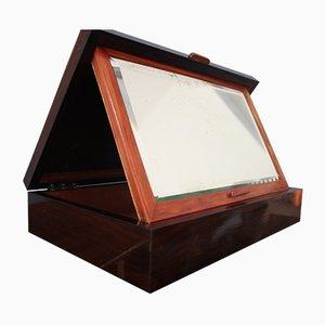 Boîte Antique en Palissandre avec Miroir