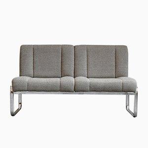Sofa aus Stahlrohr und Chrom, 1970er