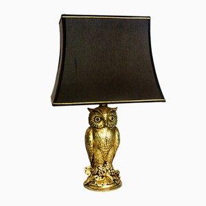 Brass Owl Table Lamp from Loevsky & Loevsky, 1960s