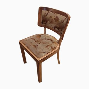 Art Deco German Walnut Dining Chairs, 1930s, Set of 6