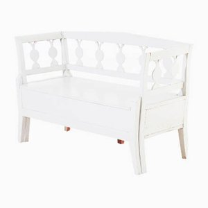 Small Antique Swedish Gustavian Bench