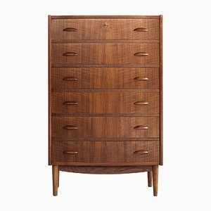 Mid-Century Danish Teak Bow Front Chest of Drawers, 1960s