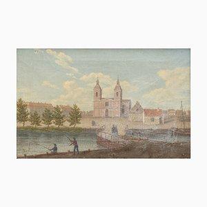 Antikes Schwedisches Gemälde von Erik West Erling