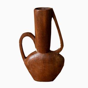 Freiform Vase aus Palisanderholz, 1970er