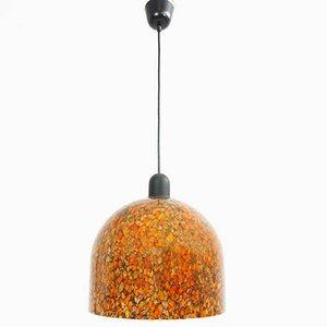 Italian Orange Glass Pendant Lamp from La Murrina, 1970s