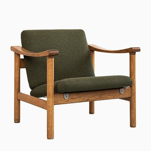 Mid-Century Oak Easy Chair by Hans J. Wegner for Getama, 1950s