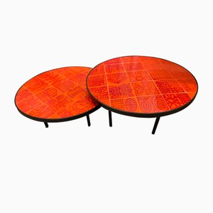 Tables Basses par Roger Capron, 1960s, Set de 2