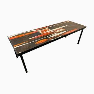 Table Basse Navette par Roger Capron, 1960s