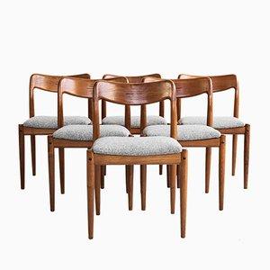 Dänische Mid-Century Teak Esszimmerstühle von Johannes Andersen für Uldum Møbelfabrik, 1960er, 6er Set