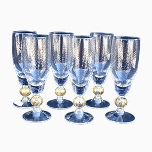 Mid-Century Champagne Glass by Murano, Set of 6