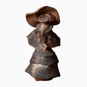 Steinzeugfiguren von Michèle Raymond für Atelier des Galuches, 1970er, 2er Set