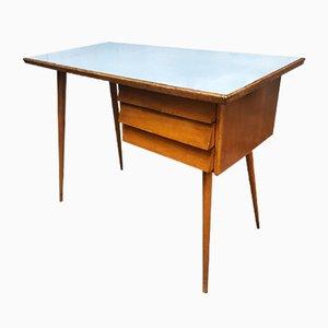 Schreibtisch aus Holz & Formica, Italien, 1950er