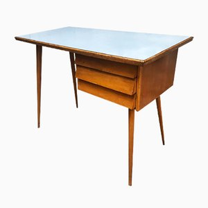Wood and Formica Desk, Italy, 1950s