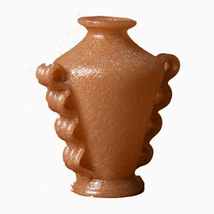 Murano Glass Vase from Mazzega, 1930s