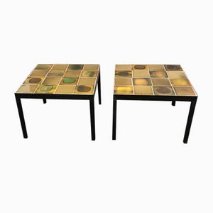 Planete Coffee Tables by Roger Capron, 1960s, Set of 2