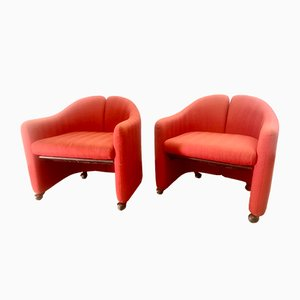 Mid-Century Italian PS142 Armchairs by Eugenio Gerli for Tecno, Set of 2