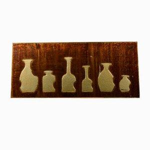 Dekorative Bemalung mit Flaschen in verschiedenen Formen von Odevain, 1960er