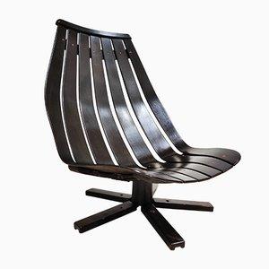 Swivel Lounge Chair by Hans Brattrud, 1960s