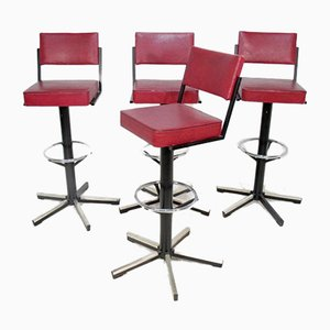 Swedish Bar Stools, 1970s, Set of 4