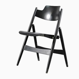 Beech Model SE18 Folding Chair by Egon Eiermann for Wilde+Spieth, 1960s