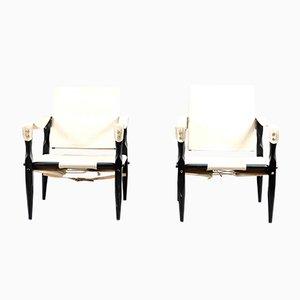 Vintage Safari Lounge Chairs by Wilhelm Kienzle for Wohnbedarf, Set of 2