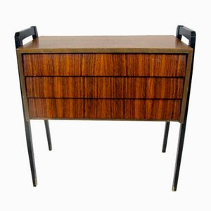 Small Swedish Rosewood Chest of Drawers, 1960s