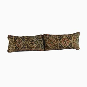 Turkish Oushak Rug Cushions, Set of 2