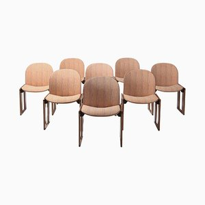 Walnut Model 121 Side Chairs by Tobia & Afra Scarpa for Cassina, 1970s, Set of 8
