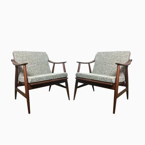Vintage Swedish Easy Chairs, 1960s, Set of 2