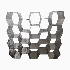 Honeycomb Stainless Steel Shelf, 1970s