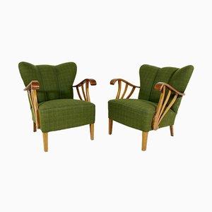 Vintage Swedish Lounge Chairs, 1930s, Set of 2