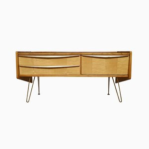 Flamed Maple Mini Sideboard, 1950s