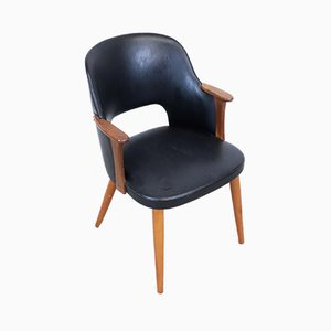 Vintage Swedish Leatherette Dining Chair, 1960s