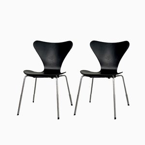 Butterfly Dining Chairs by Arne Jacobsen for Fritz Hansen, 1950s, Set of 2