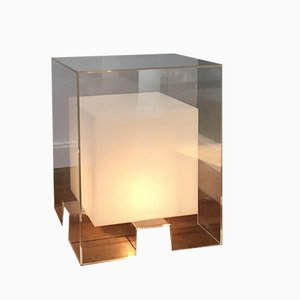 Vintage Cubic Plexiglass Floor Lamp, 1980s