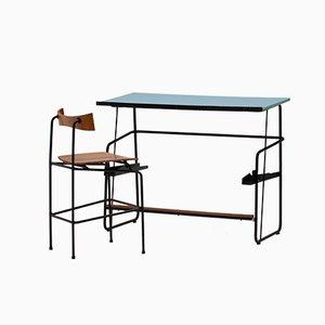 Schreibtisch und Stuhl Set von Jacques Seeuws für Ghent University, 1959