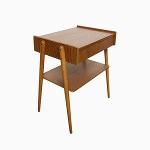 Schwedischer Mid-Century Teak Nachttisch von Carlström & Co Möbelfabrik, 1960er