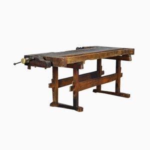 Carpenters Oak Workbench, 1920s