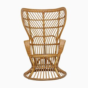 Rattan Wicker Armchair by Lio Carminati & Gio Ponti for Anoni, 1955