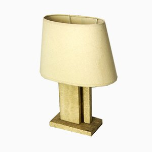 Travertine and Brass Table Lamp, 1970s