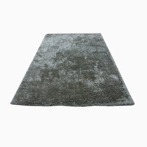 Hand-Knotted Shaggy Long Pile Wool Rug, 2001