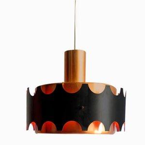 Deckenlampe aus Aluminium von Doria Leuchten, 1960er