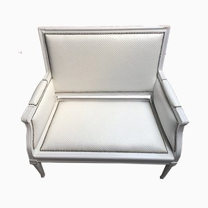 Small White 2-Seat Sofa, 1930s