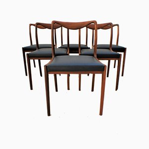 Scandinavian Teak Dining Chairs, 1960s, Set of 6