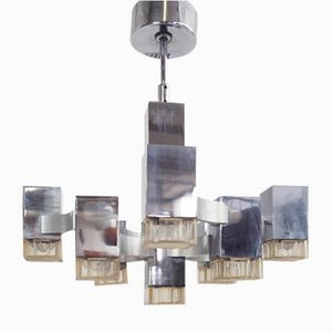 Metal Chrome Pendant Lamp by Gaetano Sciolari for Sciolari, 1960s