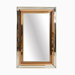 Hollywood Regency Wall Mirror from Schöninger , 1974