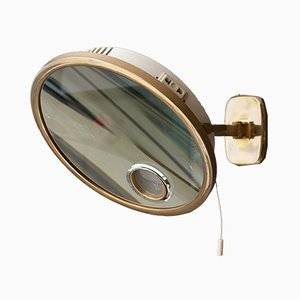 Brass Illuminated Wall Mirror from Brot Mirophar, 1936