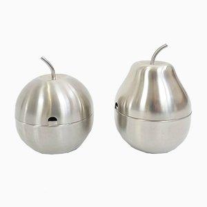 Apfel und Birnen Zuckerdose im Stil von Ettore Sottsass für Rinnovel, 1960er, 2er Set