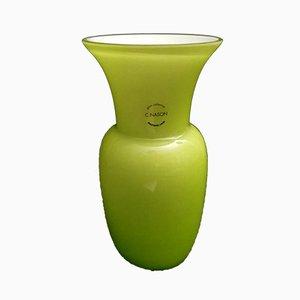 Vase en Verre de Murano Soufflé et Couché par Carlo Nason, 1980s