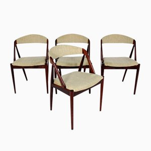 Sedie da pranzo modello 31 in teak di Kai Kristiansen per Schou Andersen, anni '60, set di 4
